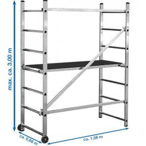 Aluminijumska kućna skela max. dohvata 3m