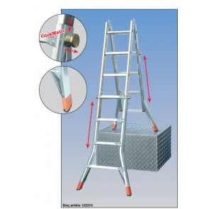 Teleskopske zglobne telematik merdevine