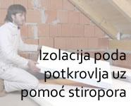 Izolacija poda potkrovlja uz pomoć stiropora